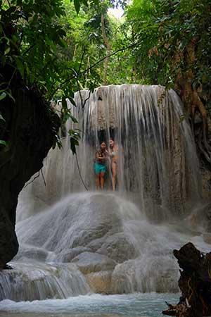 Aguinid Wasserfall Abkühlung
