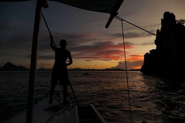 Papaya Beach Sonnenuntergang
